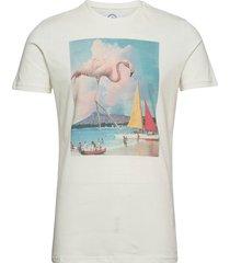 print tee t-shirts short-sleeved creme kronstadt