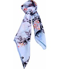 lenço smm acessorios floral azul pastel