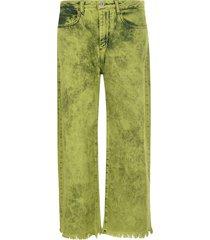 marquesalmeida fringed cuff long jeans