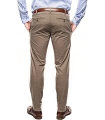 spodnie galar 214 brąz slim fit