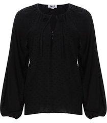blusa unicolor manga larga color negro, talla l