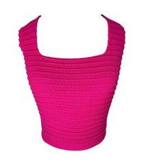 cropped modal lã regata pink neon