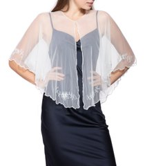 inc international concepts floral embellished evening shrug, created for macy's