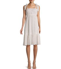 love ady women's floral empire dress - white floral - size s