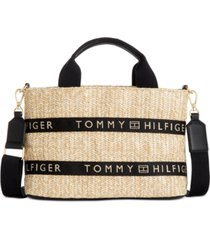tommy hilfiger caroline paper straw shopper, created for macy's