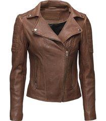 biker jacket leren jack leren jas bruin depeche