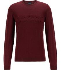 boss men's embossed regular-fit sweater