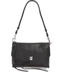 rebecca minkoff darren leather shoulder bag - black