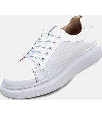 tãªnis moda casual  feminino de griffe up conforto branco - azul/branco - feminino - couro legãtimo - dafiti