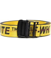off-white woman yellow industrial belt