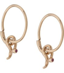 maria black 14kt yellow gold fall sapphire hoop earrings