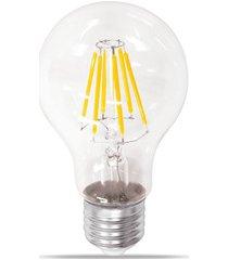 lâmpada led bulbo com filamento 6w bivolt luz âmbar