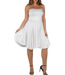 24seven comfort apparel women's plus size pleated summer dress