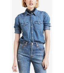 levi's cotton ultimate western denim shirt