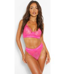 woman tape lace brazilian, hot pink