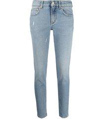 light blue slim mid-rise jeans