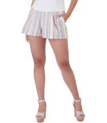 black tape lightweight striped cuffed shorts