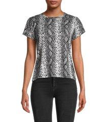 prince peter collection women's python-print t-shirt - gunmetal - size m