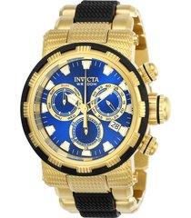 reloj invicta dorado negro modelo 239ln para hombres, colección specialty