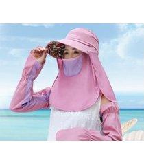 verano femenino nuevo sombrero de sol transpirable-púrpura