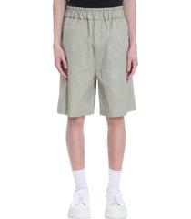 jil sander shorts in grey cotton