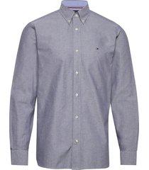 crisp oxford shirt overhemd casual blauw tommy hilfiger