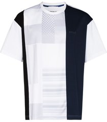 koché vertical patchwork t-shirt - blue