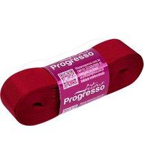 fita de gorgurão gp nº05 22mm peça com 10m vermelho 209