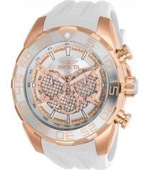 reloj invicta blanco modelo 263gl para hombre, colección speedway
