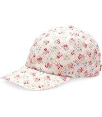 gucci floral print cap - white