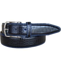 lejon men's anzio italian calfskin embossed alligator print leather dress belt