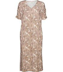 livacr long dress maxiklänning festklänning brun cream