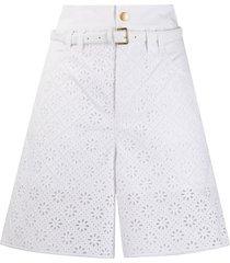 philosophy di lorenzo serafini lace bermuda shorts - white