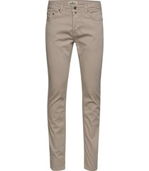 james textured 5-pkt slim jeans beige morris