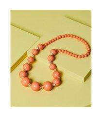 colar de resina - colar andes cor: laranja - tamanho: único