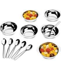 conjunto para sobremesa jornata em aço inox 12 pcs - brinox - tricae