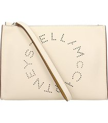 stella mccartney clutch in beige faux leather