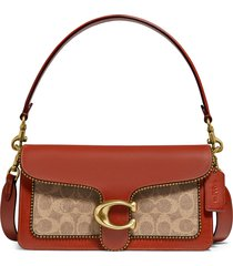 coach tabby 26 coated canvas & leather shoulder bag - brown