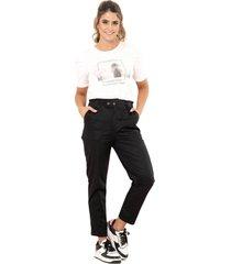 pantalon mielero negro ragged pf12310295