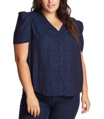 1.state plus size puff-sleeve blouse