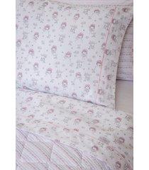 fronha avulsa infantil 200 fios fada - scavone - branco/rosa - dafiti