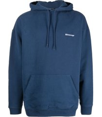 balenciaga logo-embroidered oversize hoodie