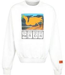 heron preston printed crew-neck sweatshirt