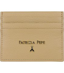 patrizia pepe leather card holder