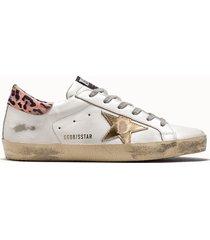 golden goose deluxe brand sneakers superstar colore bianco animalier