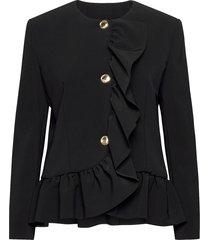 boutique moschino jacket blazers bouclé blazers svart boutique moschino
