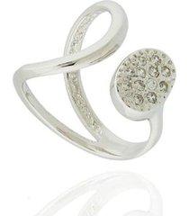 anel dona diva semi joias curva oval feminino