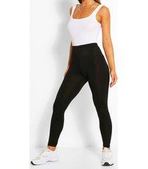 basic leggings met hoge taille, zwart