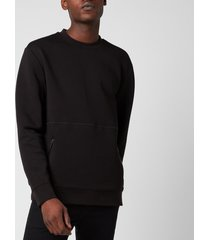 hugo men's dokoda kangaroo pouch sweatshirt - black - l