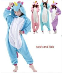 adult kidsunisex animal onesie cosplay costume unicorn pony kigurumi pajamas..